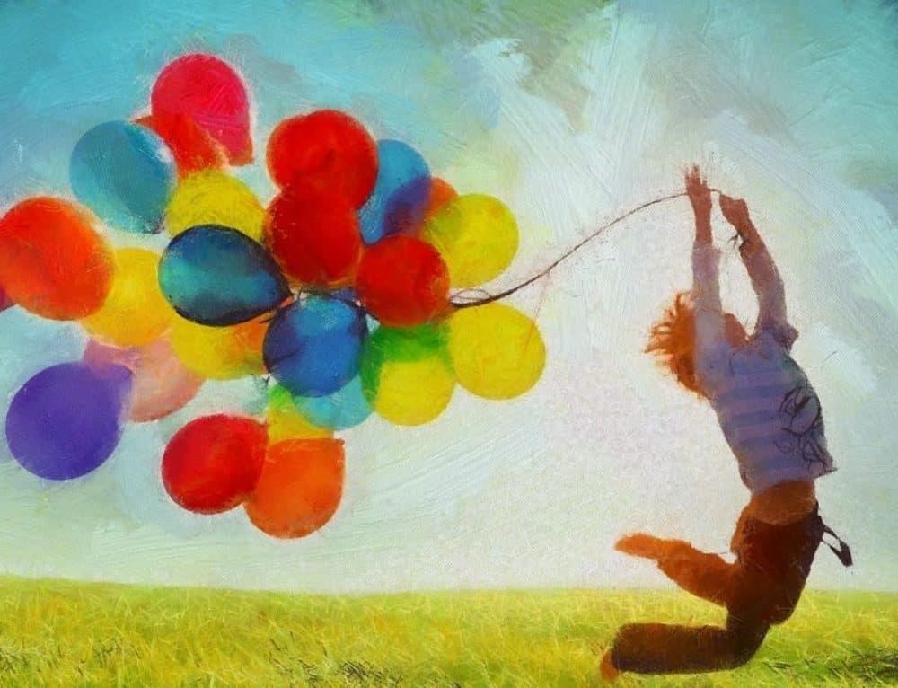 """""""Der rote Ballon"""" zum Lauschen & Spüren"""