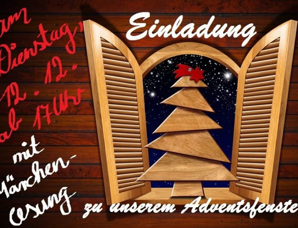 Auch heuer wieder: Adventsfenster-Lesung!