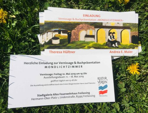 """Einladung zur Vernissage & Buchpräsentation """"Mondlichtzimmer"""""""